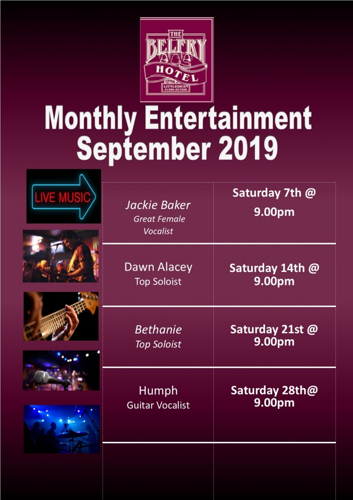 Monthly entertainment poster September 2019